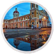 Reflections Of Granada, Nicaragua  Round Beach Towel