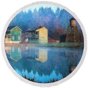 Reflections Of Hope - Hope Valley Art Round Beach Towel