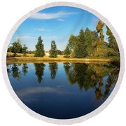 Reflections Of Life Round Beach Towel