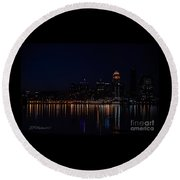 Reflections Of Louisville Round Beach Towel