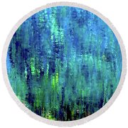 Reflections Of Monet 8155 H_12 Round Beach Towel