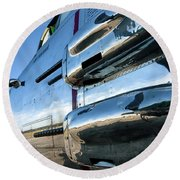 Reflections Of Panchito - 2017 Christopher Buff, Www.aviationbuff.com Round Beach Towel