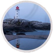 Reflections Of Peggy Round Beach Towel