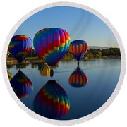 Reflections Of Seven Round Beach Towel