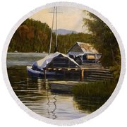 Reflections Of Summer Round Beach Towel