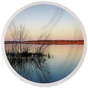 Reflections On Lake Jackson Tallahassee Round Beach Towel