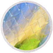 Reflections On Peter B. Lewis Building, Cleveland Round Beach Towel