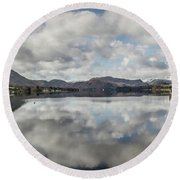Round Beach Towel featuring the photograph Reflections On Ullswater by RKAB Works