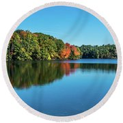 Reflections Pano Round Beach Towel