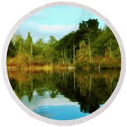 Reflections Round Beach Towel by Timothy Hack