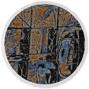 Reflections  Round Beach Towel by Tom Janca