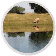 Reflective Cow Round Beach Towel