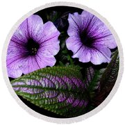 Round Beach Towel featuring the photograph Reflective Infusion by Randy Rosenberger