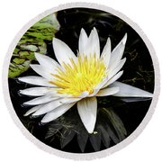 Reflective Lily Round Beach Towel