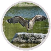 Reflective Moment Round Beach Towel