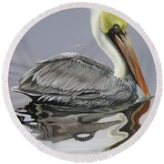 Reflective Perspective Round Beach Towel