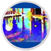 Reflective Pool Hearst Castle Round Beach Towel