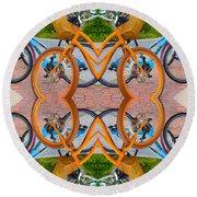 Reflective Rides Round Beach Towel by Betsy Knapp