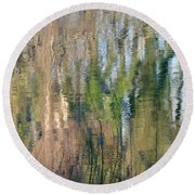 Round Beach Towel featuring the photograph Reflet Rhodanien Pastel 1 by Marc Philippe Joly