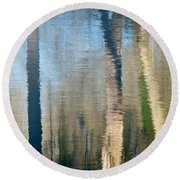 Round Beach Towel featuring the photograph Reflet Rhodanien Pastel 2 by Marc Philippe Joly