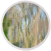 Round Beach Towel featuring the photograph Reflet Rhodanien Pastel 3 by Marc Philippe Joly