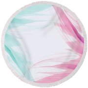 Round Beach Towel featuring the photograph Refreshing by Andrea Anderegg