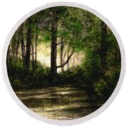 Refuge - Early Morning Round Beach Towel