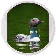 Regal Loon Round Beach Towel