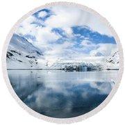 Reid Glacier Glacier Bay National Park Round Beach Towel