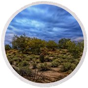 Round Beach Towel featuring the photograph Rejuvenation Op19 by Mark Myhaver