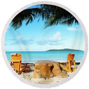 Relax In St Croix Round Beach Towel