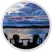 Relax Round Beach Towel by Marilyn McNish
