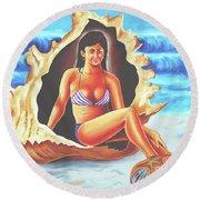 Relax Round Beach Towel by Ragunath Venkatraman