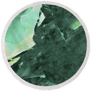 Round Beach Towel featuring the digital art Relaxing In The Green by Margie Chapman