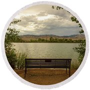 Round Beach Towel featuring the photograph Relaxing View by James BO Insogna