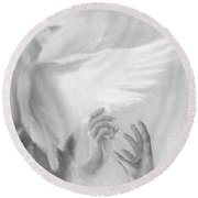 Release Round Beach Towel by Denise Fulmer