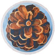 Round Beach Towel featuring the painting Released by Erin Fickert-Rowland