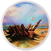 Relic Washed Ashore Round Beach Towel