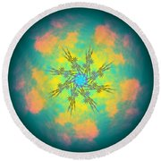 Reluctured Round Beach Towel
