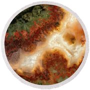 Remarkable Plume Agate Round Beach Towel