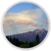 The Remarkables Round Beach Towel
