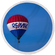 Remax Hot Air Balloon Round Beach Towel