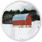Round Beach Towel featuring the photograph Rembering The Good Old Days by Julie Hamilton