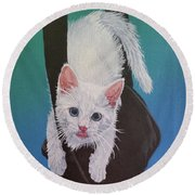 Rembrandt Justa Swingin Round Beach Towel by Wendy Shoults