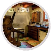 Round Beach Towel featuring the photograph Rembrandt's Former Graphic Workshop In Amsterdam by RicardMN Photography