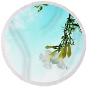 Round Beach Towel featuring the photograph Remember by Cindy Garber Iverson