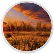 Remember Everything Round Beach Towel
