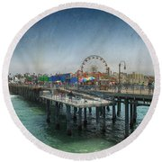Remember Those Days Round Beach Towel by Laurie Search