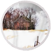 Round Beach Towel featuring the photograph Remember When by Julie Hamilton