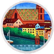 Remembering Basel Round Beach Towel